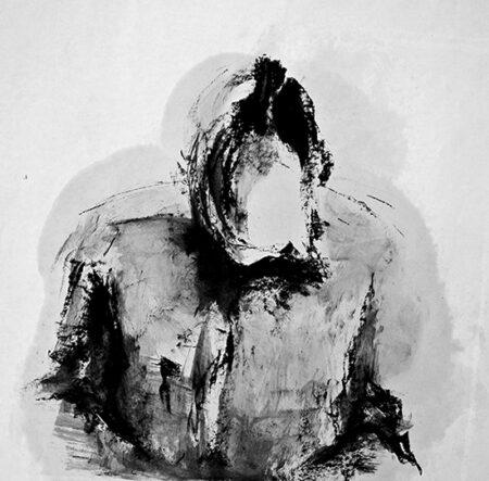 Autoritratto (2011) Oilbar su carta 70x70cm