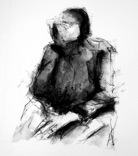 Autoritratto (2011) Oil bar su carta 50x70cm