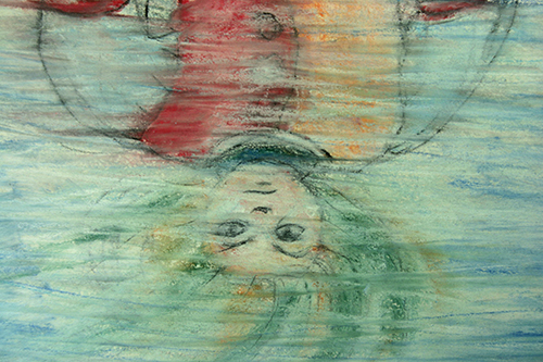 Impiccato (2013) Pastelli Rembrandt su carta 29,7x21cm