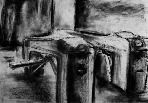 Tornelli (2010) Carboncino su carta 30x25cm