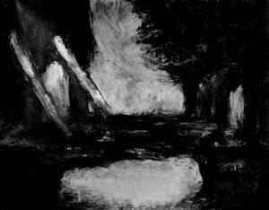 Ponte levatoio (2013) Oil bar su tela, 100x70 cm