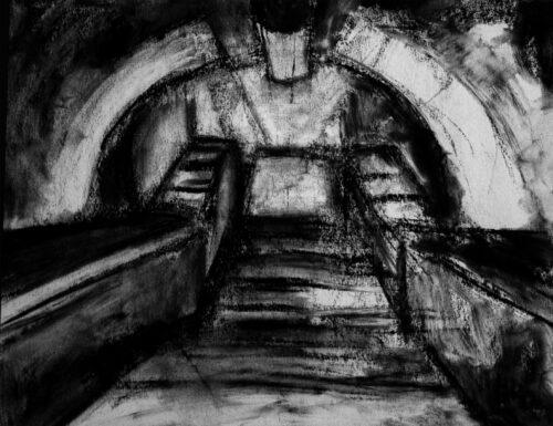 Tunnel tondo (2010) Carboncino su carta 35x25Tunnel tondo (2010) Carboncino su carta 35x25cm