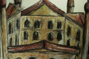 Case (2013) Pastelli Rembrandt su carta (collage) cm29,7 x cm21